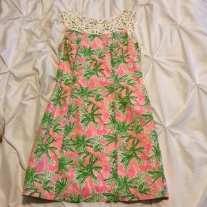 Lilly Pulitzer carrot pattern shift Dress